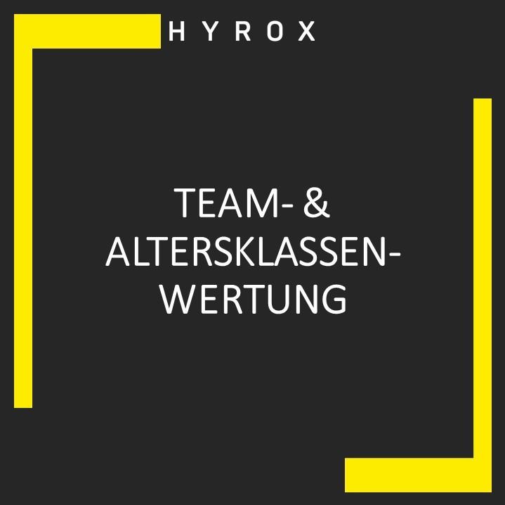 Team- & Altersklassenwertung